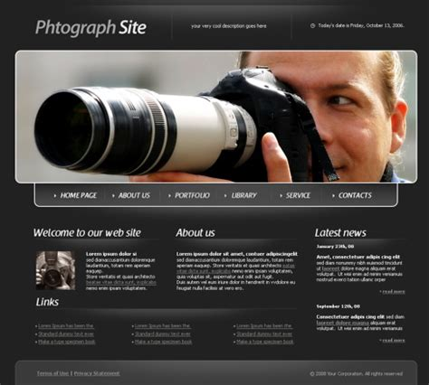 findout html template  art photography website
