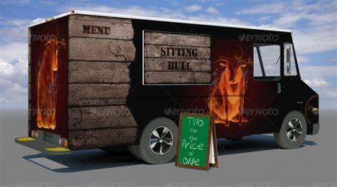 truck advertising mockups  psd indesign ai