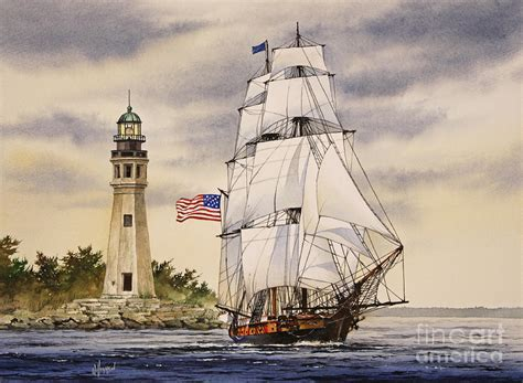 Uss Niagara Painting by James Williamson