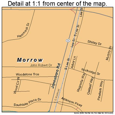 this is it morrow ga morrow georgia street map 1353004