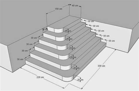 construire escalier en beton batirsamaison net construire un escalier en b 233 ton de type pyramidal avec angles arrondis