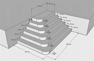 Construire Un Escalier Extérieur : construire un escalier en b ton de type pyramidal avec angles arrondis ~ Melissatoandfro.com Idées de Décoration