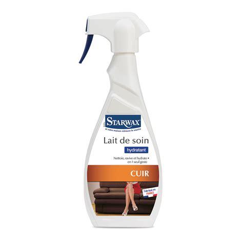 nettoyer un canapé en cuir avec du lait de toilette lait de soin hydratant pour cuir starwax produits d