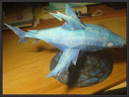 wizard storm shark  papercraft