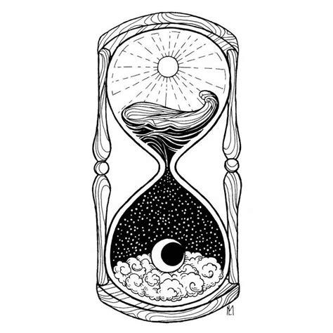 hourglass drawing ideas  pinterest hourglass