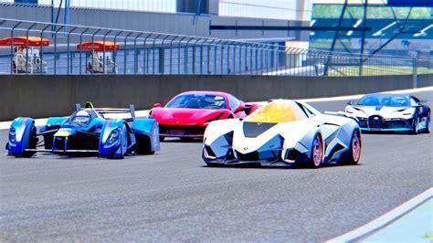 Diffen › automotive › cars › ferrari. Bugatti Divo vs Lamborghini Egoista vs Ferrari F8 Tributo vs Red Bull X2010 - Silverstone - YouTube