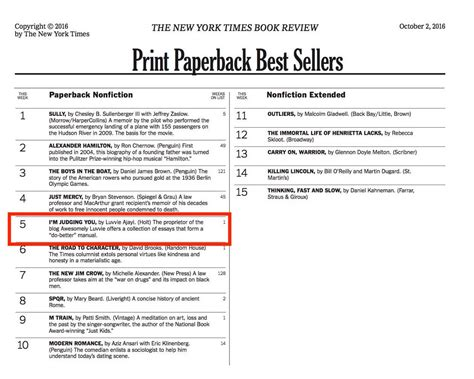 New York Best Sellers List Nytimes Best Sellers List Im Judging You Awesomely Luvvie