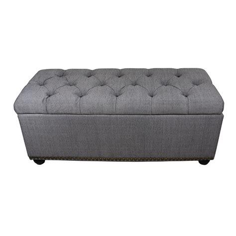 Gray Storage Ottoman by Ore International 18 Quot Tufted Grey Storage Bench 3pcs