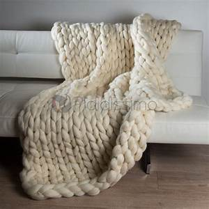 Plaid Laine Grosse Maille : plaid en grosses mailles laine m rinos d 39 australie himalaya ~ Teatrodelosmanantiales.com Idées de Décoration