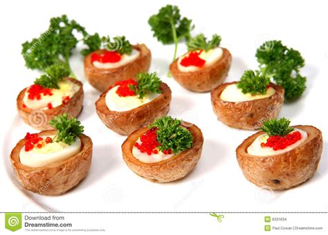 baked canapes quails 39 egg canapes stock photo image of baked parsley