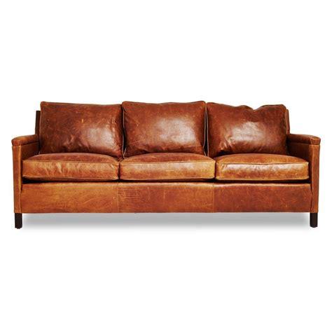burnt orange leather sofa  rustic brown leather