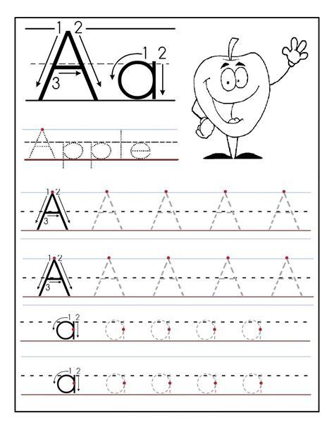 Kindergarten Alphabet Tracing Worksheets Fun  Loving Printable