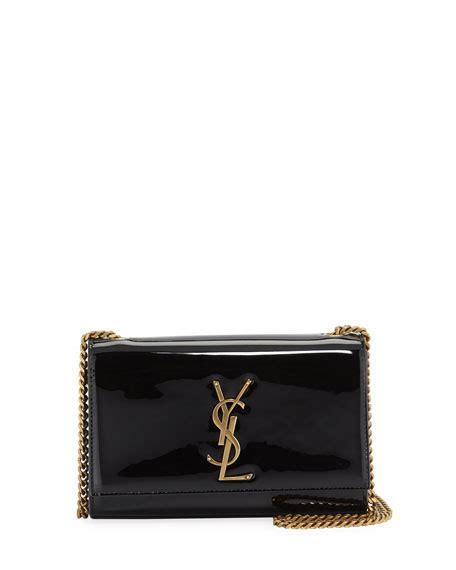 saint laurent kate monogram ysl small patent leather crossbody bag neiman marcus