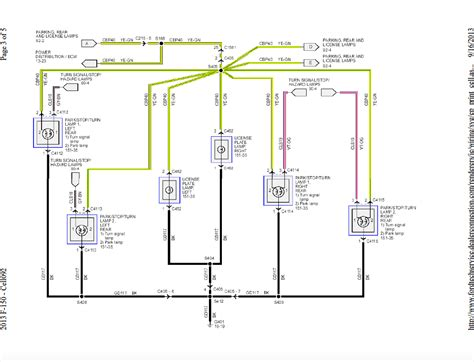 Exterior Lights Wire Harnesses Diagrams Ford