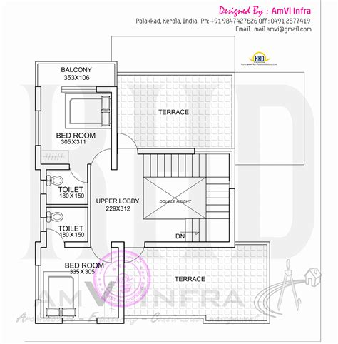 architecture home plans floor plan and elevation of flat roof villa kerala home