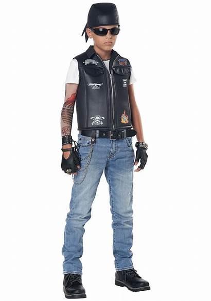 Biker Costume Cool Kid Vest Costumes Adult