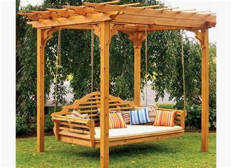 si鑒e de jardin jardines con desnivel pérgola para jardín con columpio me gusta este diseño para patio glorietas pergolas patios