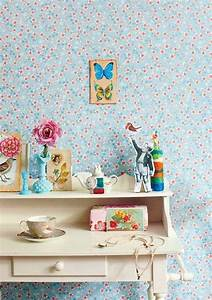 le papier peint en 52 photos pleines d39idees With chambre bébé design avec basket fleur