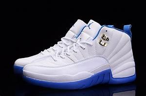 2016 Air Jordan 12 White/Metallic Gold-University Blue ...