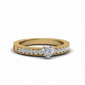 heart shaped diamond delicate engagement ring in 14k white With shaped diamond wedding rings