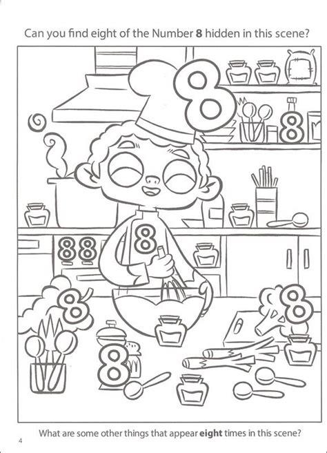color number finder cijferkleurplaat 8 kinder ideas chiffre