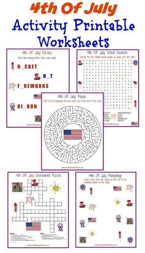 4th of july worksheets free 4th of july activity printable worksheets