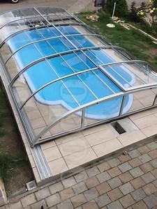 swimming pool uberdachung schwimmbecken abdeckung in With französischer balkon mit garten pool guenstig