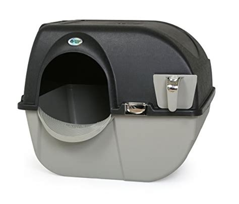 sifting litter box omega paw elite self cleaning roll n clean litter box
