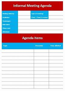 Informal Meeting Agenda Template 10 Free Sample Informal Agenda Templates For Your Casual