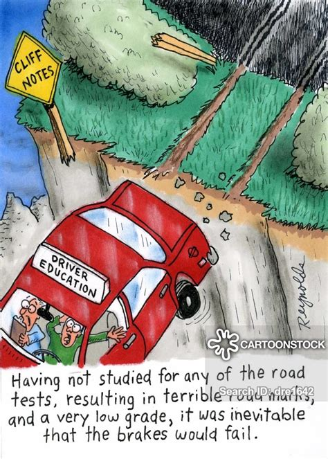 driving test cartoons  comics funny pictures