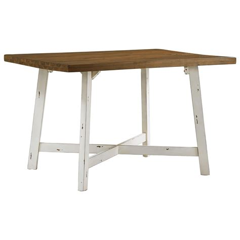 standard furniture amelia two tone table and chair set