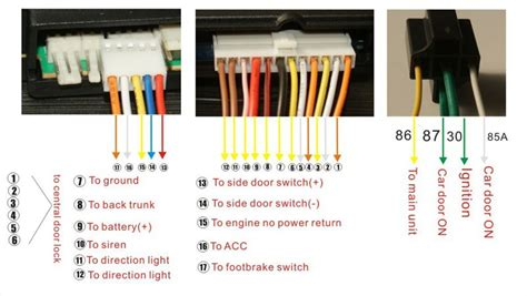 One Way Car Alarm Security System Two Remotes Lock