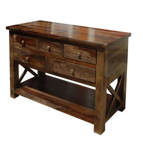 Foyer Tables With Storage by Portland Solid Wood 4 Storage Drawer Console Foyer Table