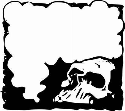Skull Border Clipart Frame Halloween Transparent Horror