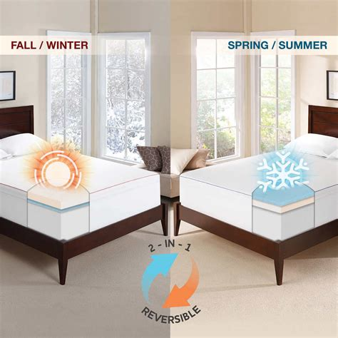 novaform mattress topper novaform 3 seasonal memory foam mattress topper king ebay