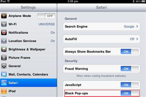 pop up blocker iphone how to turn the safari pop up blocker in 2