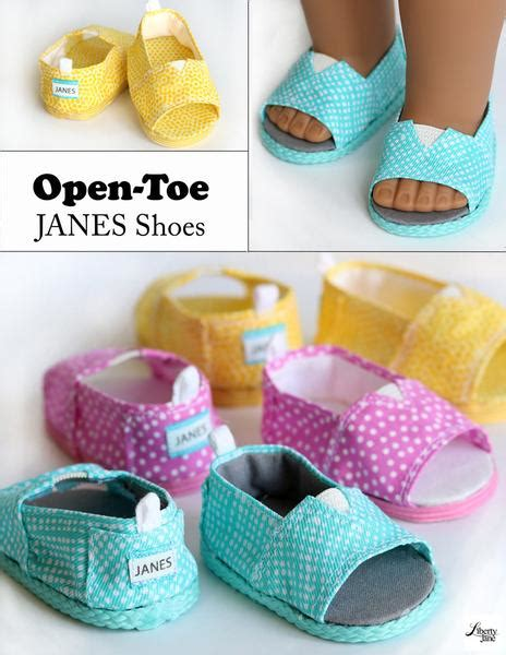 liberty jane open toe janes doll clothes pattern