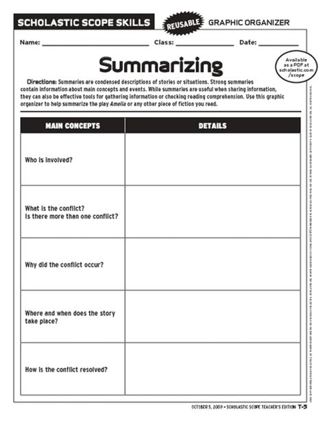 summarizing worksheets for 4th grade worksheets for all