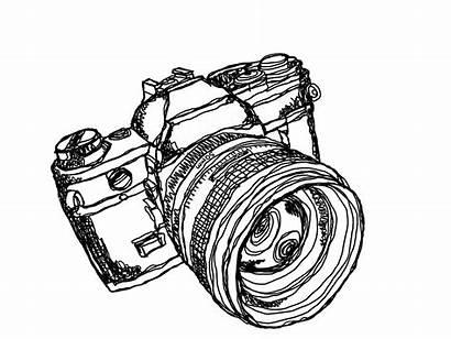 Camera Slr 35mm Redbubble Sticker Drawing Strayfoto