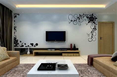 tv wall decoration  living room roy home design