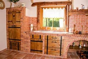 Küchen Selber Bauen : rustikale k chenm bel k chen rustikal gemauerte k che ~ Watch28wear.com Haus und Dekorationen