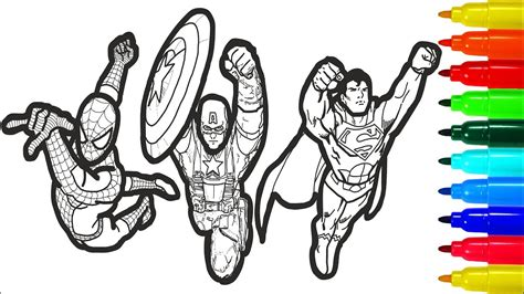 spiderman iron man superman captain america wolverine