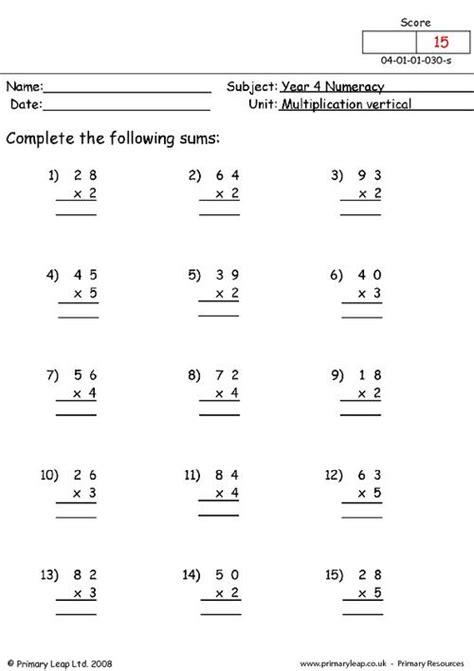basic multiplication worksheets educational