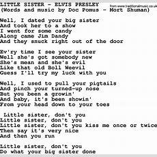 little sister by elvis presley lyrics - Sisters White Christmas Lyrics