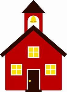 Little Red School House - Free Clip Art