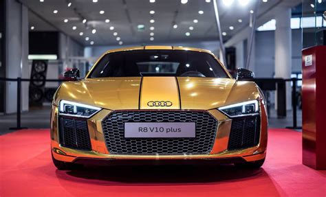 golden audi    revealed gtspirit