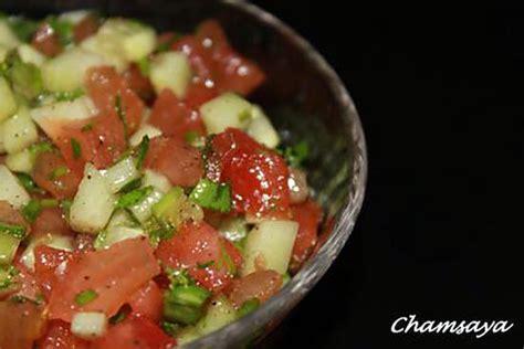 cuisine marocaine salade recette de salade marocaine concombre et tomates