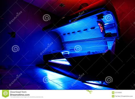 tanning bed at solarium studio stock image image 27218355