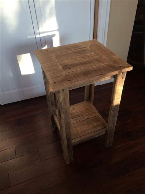 diy wood end table diy pallet wood end table and nightstand pallet