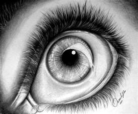 what s in the bag baby shower realistic eye drawing by owen lafon